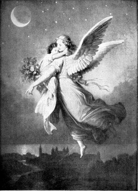 Child carried by Angel