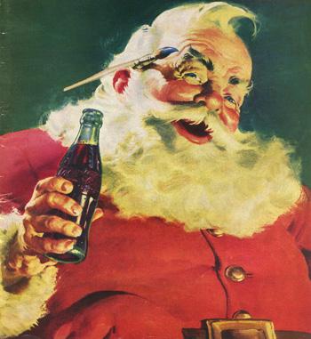 Coca Cola Santa! Image by Haddon Sundblom.