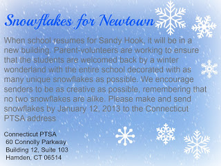 snowflakes for Newtown, CT