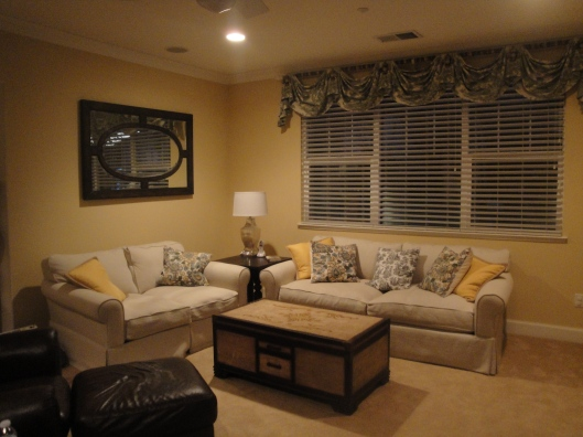 Family room, pillows